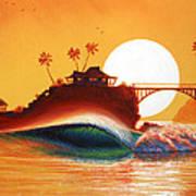Rainbow Bridge Art Print by Patrick Parker