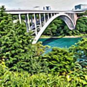 Rainbow Bridge View Art Print