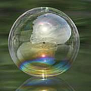 Sun Halo Rainbow Bubble Art Print