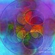 Rainbow Bubbles Art Print by Klara Acel