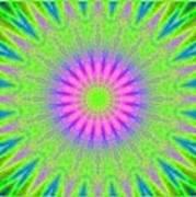 Rainbow Burst Art Print