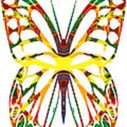 Rainbow Butterfly Abstract Nature Artwork Art Print