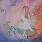 Rainbow Butterfly Fairy Art Print
