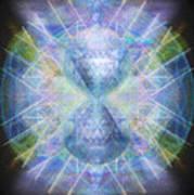 Rainbow Chalice Cell Isphere Matrix Art Print