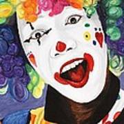 Rainbow Clown Art Print