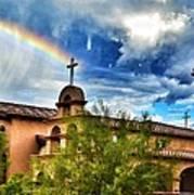 Rainbow Cross Church Art Print