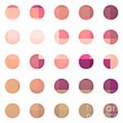 Rainbow Dots Rose Print by Pixel Chimp