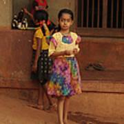 Rainbow Dress. Indian Collection Art Print
