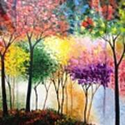 Rainbow Forest Art Print by Shilpi Singh