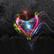 Rainbow Heart Art Print by Linda Sannuti