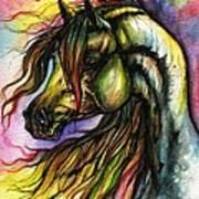 Rainbow Horse 2 Art Print