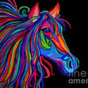 Rainbow Horse Head Art Print