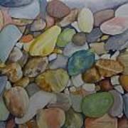 Rainbow In Stone Art Print