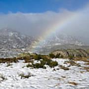 Rainbow In The Mountain Art Print