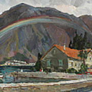Rainbow In The Mountains Art Print