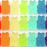 Rainbow Jelly Bear Candy Art Print