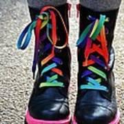 Rainbow Laces Art Print