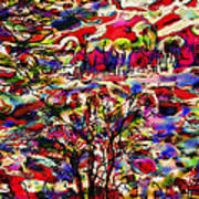 Rainbow Landscape Art Print