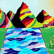 Rainbow Mountain Art Print