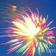 Rainbow Of Color Abstract Fireworks Art Print