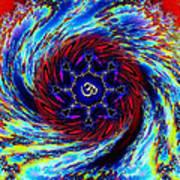 Rainbow Om Fractal Swirl Art Print