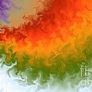 Rainbow On Fire Art Print