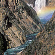 Rainbow On The Lower Falls Art Print
