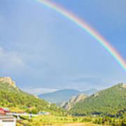 Rainbow Over Rollinsville Art Print