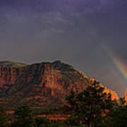 Rainbow Over Sedona  Art Print