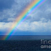 Rainbow Over The Atlantic Ocean Art Print