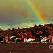 Rainbow Over Winnipesaukee Two Art Print