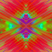 Rainbow Passion Abstract 2 Art Print