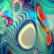 Rainbow Play Art Print by Anastasiya Malakhova