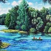 Rainbow River At Rainbow Springs Florida Art Print