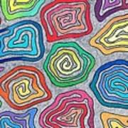 Rainbow Snails Art Print