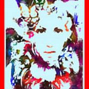 Rainbow Splattered Get A Little Closer Art Print