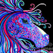 Rainbow Spotted Horse2 Art Print