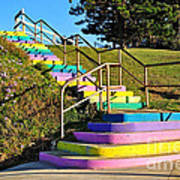 Rainbow Steps Art Print