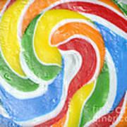 Rainbow Swirl Art Print by Luke Moore
