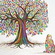 Rainbow Tree Dreams Art Print
