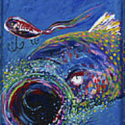 Rainbow Trout Detail B Art Print