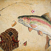 Rainbow Trout Print by Jean Plout