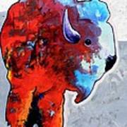 Rainbow Warrior Bison Art Print