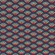 Rainbowaves Pattern Dark Art Print