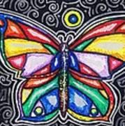 Rainbows And Butterflies Art Print