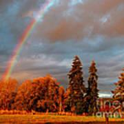 Rainbow's End At Rainbow Falls Art Print