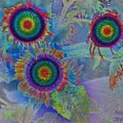 Rainbows In Flowers  Art Print