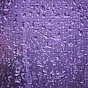 Raindrops On Window II Art Print