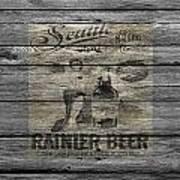 Rainier Beer Art Print