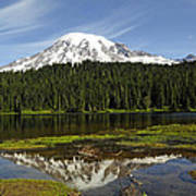 Rainier's Reflection Art Print